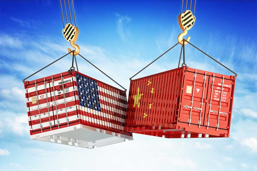 Economic trade war between USA and China